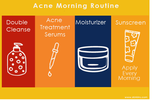 Acne Morning Routine
