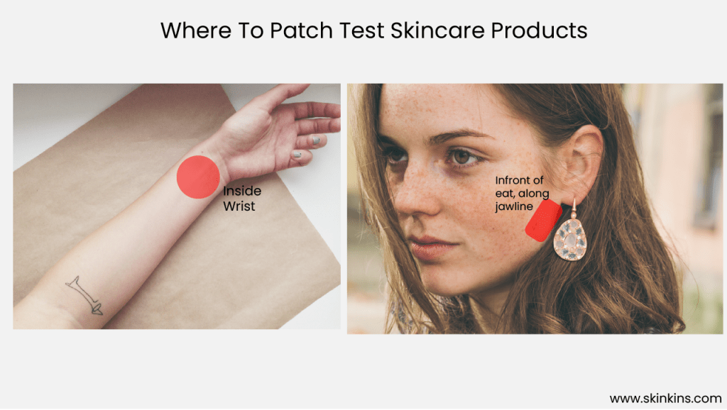 Where to Patch Test Skincare Products